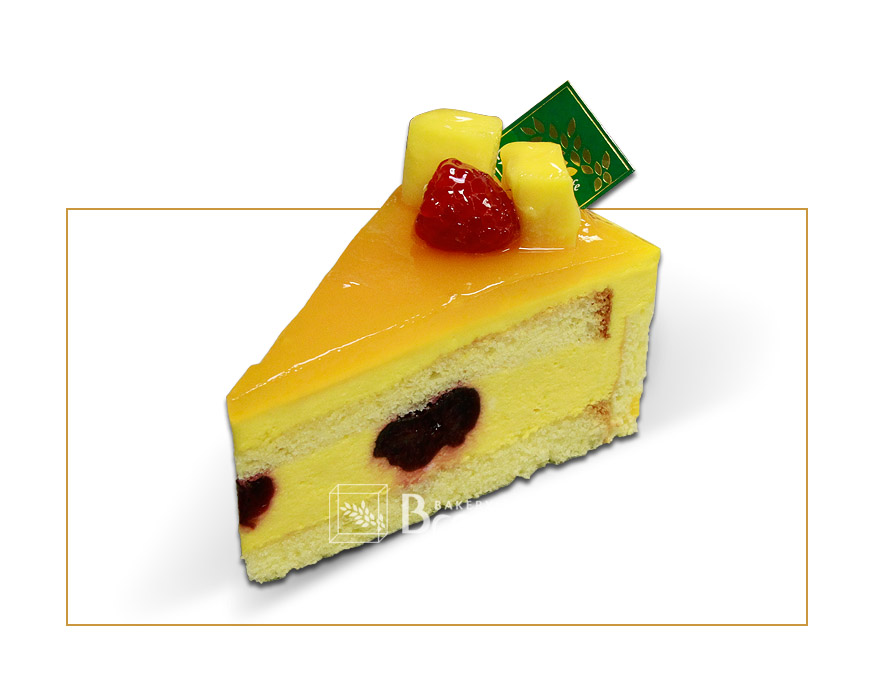 Cherry Mango Mousse Cake