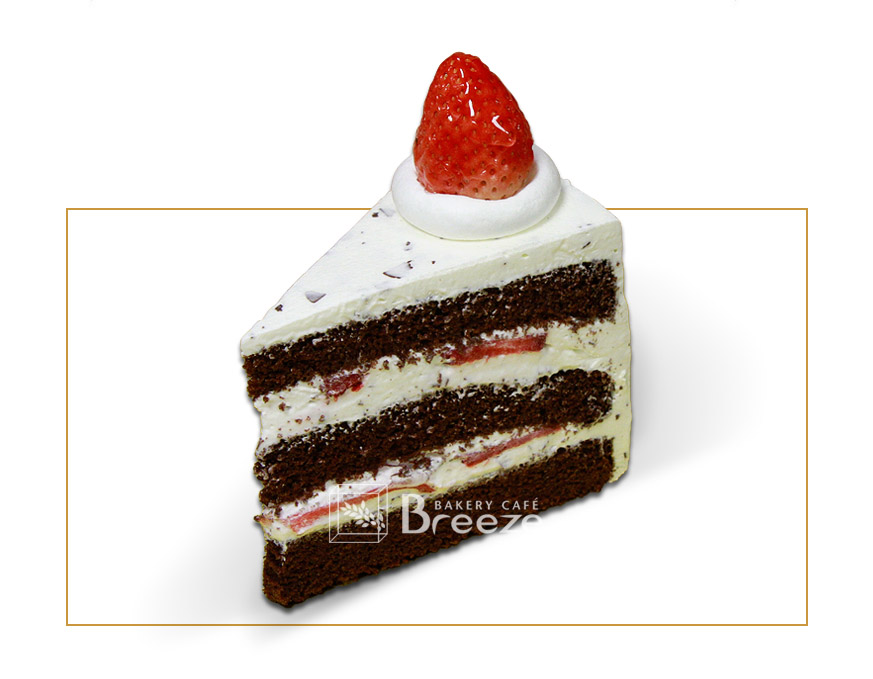 Choco Chip Strawberry Cake