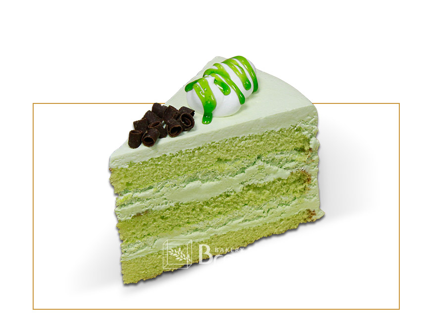 Green Tea Fresh Cream Cake
