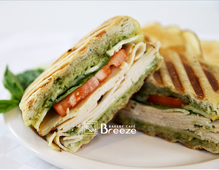 Basil Chicken Pesto Panini